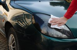 Car detailing. Wash and detailing a car stock photography