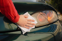 Car detailing. Wash and detailing a car royalty free stock photography