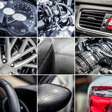 Car details collage Royalty Free Stock Photo