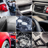 Car details collage Royalty Free Stock Photos