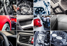 Car details collage Royalty Free Stock Image