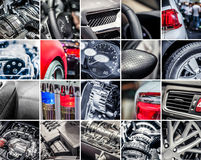 Car details collage Stock Photos
