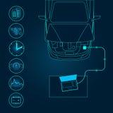 Car diagnostics icon Stock Photo