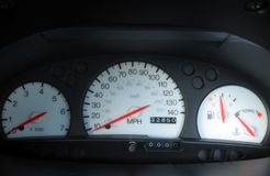 Car Dials Royalty Free Stock Photography