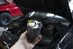 Car diesel fuel filter Stock Photo