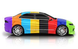 Car in different colors Royalty Free Stock Images