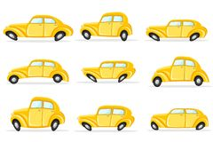 Car in Different Shape Stock Photos