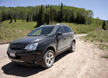 Car on dirt road Stock Photo
