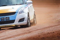 Car on dirt road Stock Image