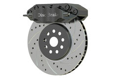 Car disc brake and caliper. 3D rendering Stock Image