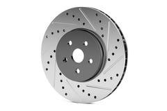 Car disc brake rotor, 3D rendering. On white background Stock Images