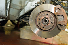 Car disc brakes Royalty Free Stock Photography