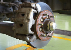 Car disc brakes servicing Stock Images
