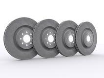 Car disc brakes. On white background Stock Photos