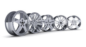 Car disc row Royalty Free Stock Photography