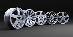 Car disc row Stock Photography