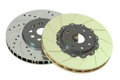 Car discs brake, 3D rendering Stock Photos
