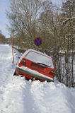 Car in the ditch Stock Images