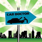 Car Doctor Plate Royalty Free Stock Photos