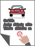 Car Document Click Sign Stock Photography