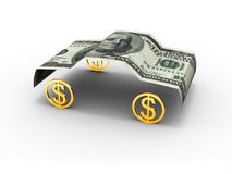 Car dollar. American dollar in car format Royalty Free Stock Images