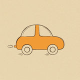 Car doodle drawing Royalty Free Stock Images