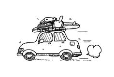 Car Doodle Royalty Free Stock Photography