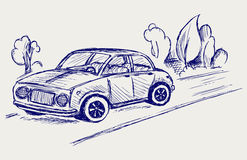 Car. Doodle style Royalty Free Stock Photo
