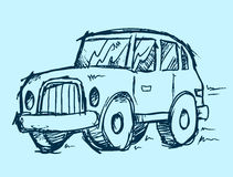 Car Doodle Vector Illustration Art Stock Images