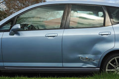Car door damage Stock Photo