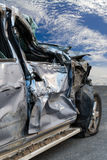 Car door demolished sky. Royalty Free Stock Images