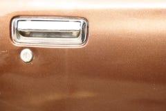 Car Door Handle. Close-up of a an car door handle Royalty Free Stock Image