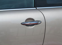 Car Door with Handle. And tire, taken closeup Royalty Free Stock Photo