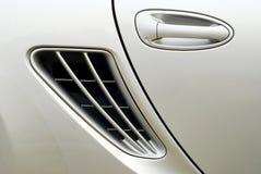 Car Door handle. Grey oval car door handle Royalty Free Stock Images