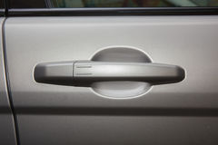 car door handle close-up Royalty Free Stock Images