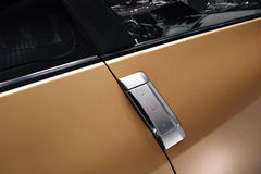 Car door with handle Royalty Free Stock Photos