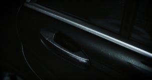 Car door handle, dolly. Black car door handle, dolly stock video