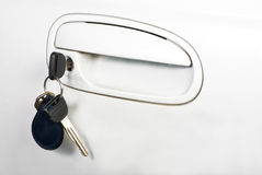 Car door handle and keys Stock Photos