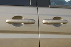 Car door handle and lock Royalty Free Stock Photography