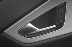 Car door handle and lock and unlock Royalty Free Stock Photography