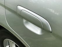 Car door handle of the car stock photography
