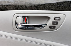 Car door handle with power seats memory control unit Royalty Free Stock Image