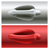 Car door handle set Stock Photos