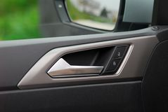 Car door handles and central locking Stock Photo