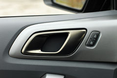 Car door handles and central locking Royalty Free Stock Photo