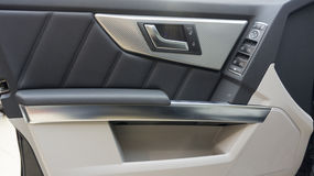 Car door inside. A car royalty free stock photos