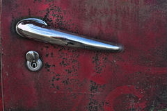 Car door knob 2. Again my favorite scrapyard and some knobs to be immortalized Royalty Free Stock Photography