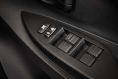 Car Door Lock Button Closeup. Electric Locking Button in Modern. Stock Photos