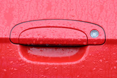 Car door lock and handle Royalty Free Stock Images