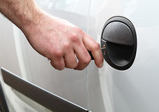 Car door locking Stock Images